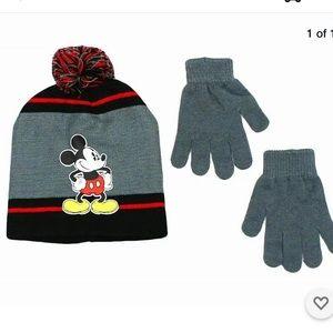 Disney Mickey Mousse Beanie Hat & Gloves Set